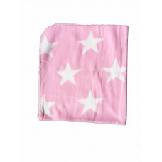 Babytæppe - Fleece med stjerner - Lyserød