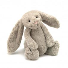 Jellycat - Bashful kanin 31 cm -  Mørk Creme