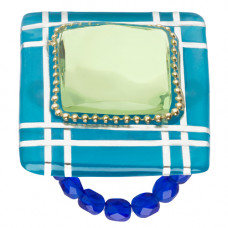 Lalo - Ring - Beautiful Blue Square