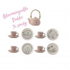 Bloomingville Mini - Dukkestel - Te kopper og kage tallerkener til 3
