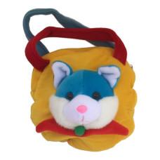 Børne taske - Med 3D Ræv - Gul