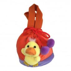 Børne taske - Med snørre og 3D Kylling - Orange