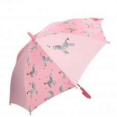 Kidzroom - Børne paraply - Pink med zebra