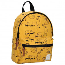 Kidzroom - Børnerygsæk med brystspænde - Animal Academy - Golden yellow