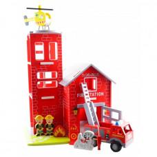 Magni - Stor Brandstation med brandbil