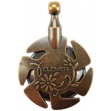 Clover - Garn cutter - Antik guld - 3,5 cm