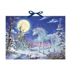 Coppenrath - Gammeldags julekalender med glimmer - Enhjørning i sneen