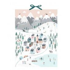 Coppenrath - Gammeldags julekalender med glimmer - Vinter panorama