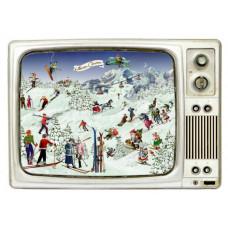 Coppenrath - Gavemærke julekalender med glimmer - Leg i sneen