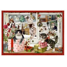 Coppenrath - Gavemærke julekalender med glimmer - Katte