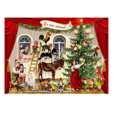 Coppenrath - Julekort julekalender med glimmer - Jul på bondegården