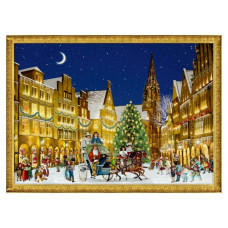 Coppenrath - Julekort julekalender med glimmer - Juleby