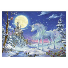 Coppenrath - Julekort julekalender med glimmer - Enhjørning