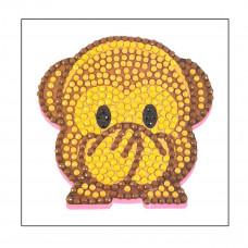 DIY - Klistermærker - Krystal Art motiv - Abe