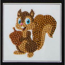 DIY - Klistermærker - Krystal Art motiv - Egern
