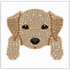 DIY - Klistermærker - Krystal Art motiv - Hundehvalp