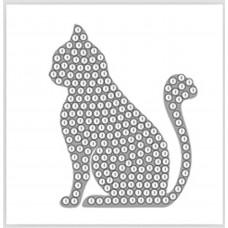 DIY - Klistermærker - Krystal Art motiv - Kat