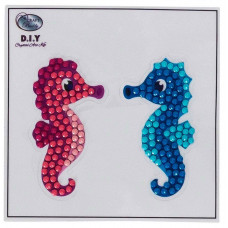 DIY - Klistermærker - Krystal Art motiv - Søheste