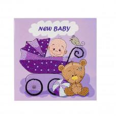 DIY - Krystal kort - Baby