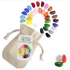 Crayon Rocks - Farvekridt - 32 stk i stofpose