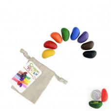 Crayon Rocks - Farvekridt - 8 stk i stofpose