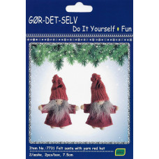 Kalendergave - Hobbysæt - Julenisser i rød