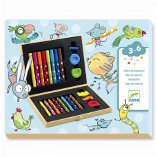 Djeco - kuffert med farver til de små