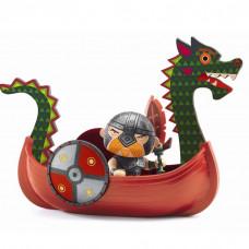 Djeco - Arty Toys - Piratfigur – Drack & Vikingeskibet