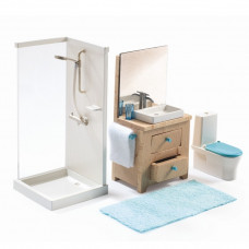 Djeco - Petit Home - Dukkehus møbler - Badeværelse