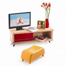 Djeco - Petit Home - Dukkehus møbler - TV møbel