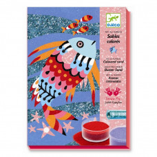 Djeco - Kreativ æske - Sandmotiv - Regnbuefisk