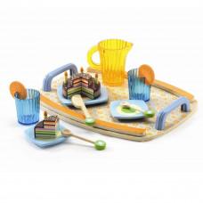 Djeco - Legekøkken - Spisestel i træ - Gaby's fødselsdag