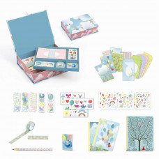 Djeco - Lovely Paper- Tilbehør til skrivebord - Charlotte æske