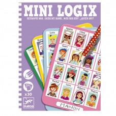 Djeco - Mini spil/Rejsespil - Mini Logix - Gæt hvem jeg er - Julie