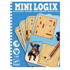 Djeco - Mini spil/Rejsespil - Mini Logix - Sænke slagskibe