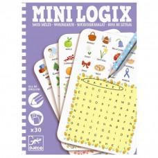 Djeco - Mini spil/Rejsespil - Mini Logix - Ordleg - Engelsk
