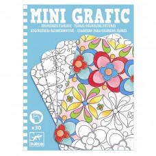 Djeco - Mini spil/Rejsespil - Mini Grafik - Blomster