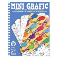 Djeco - Mini spil/Rejsespil - Mini Grafik - Dyr