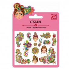 Djeco - Små klistermærker - Glimmer - Indisk Design