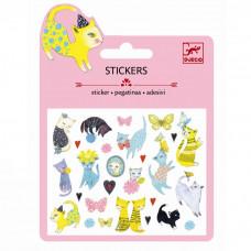 Djeco - Små klistermærker - Glimmer - Katte