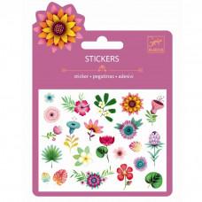Djeco - Små klistermærker - Glimmer - Tropiske blomster