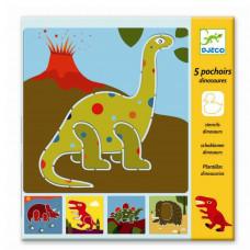 Djeco - Tegneskabeloner - Dino