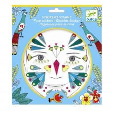 Djeco - Ansigtsklistermærker - Fugl