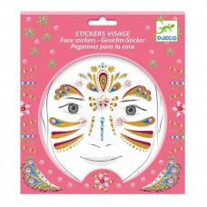 Djeco - Ansigtsklistermærker - Gylden Prinsesse