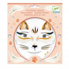 Djeco - Ansigtsklistermærker - Kat