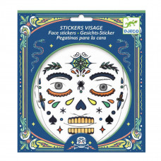 Djeco - Ansigtsklistermærker - Kranium Skull