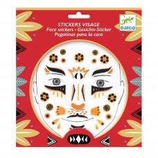 Djeco - Ansigtsklistermærker - Leopard