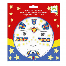 Djeco - Ansigtsklistermærker - Superhelt