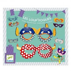 Djeco - Børne fødselsdags underholdning - Les Loup'Foques - Halvmasker til ansigtet