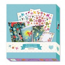 Djeco - Lovely Paper - Kreativ æske - Brevpapir - Violette